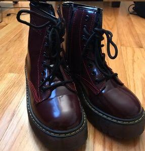 Dr Martens Platform boots color marron